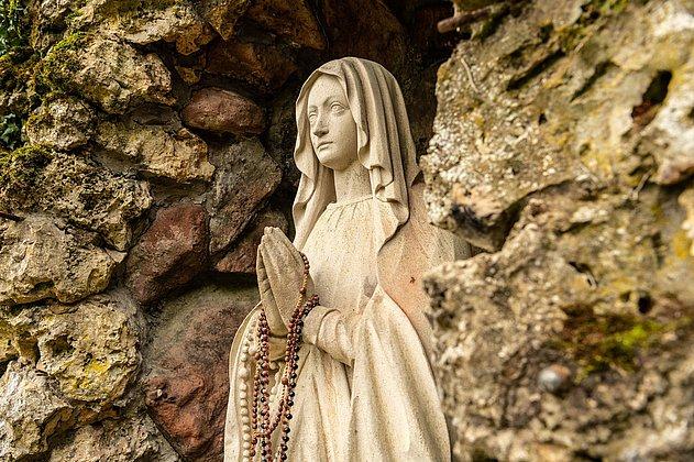 Marienfigur an der Kaltenbrunn Quelle
