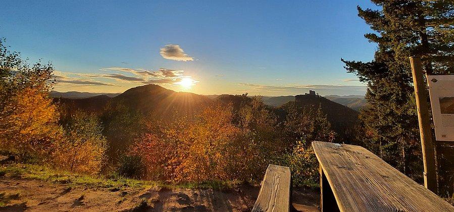 Ausblick vom Wettereck bei Sonnenuntergang
