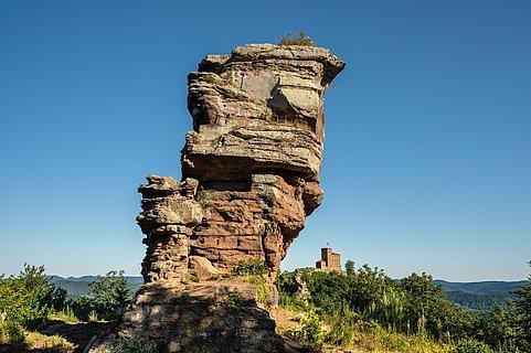 Burgruine Anebos Blick auf Trifels