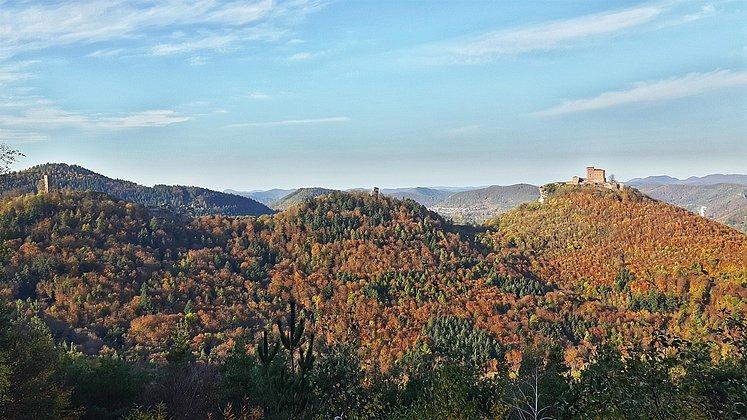 Ausblick vom Wettereck im Herbst