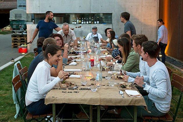 Weinprobe bei Bietighöfers